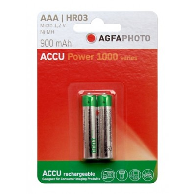 AgFA Photo – Power AAA HR03 900mAh 1,2V NiMH Akku – 2er Blister