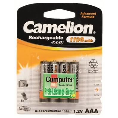 Camelion – AAA HR03 1100mAh 1,2V NiMH Akku – 4er Blister