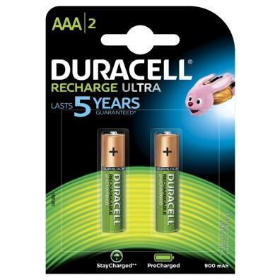 Duracell – Ultra AAA HR03 900mAh NIMH Akku – 2er Blister