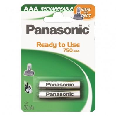 Panasonic – DECT Accu AAA 750mAh 1,2V NiMH Akku – 2er Blister