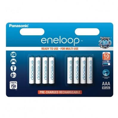 Eneloop BK-4MCCE/8BE Micro 750mAh 1,2V in 8er-Blister