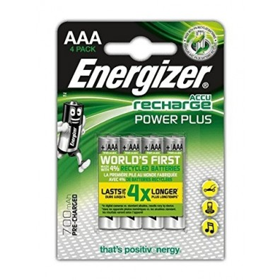 Energizer – Power Plus AAA HR03 700mAh 1,2V NiMh Akku – 4er Blister
