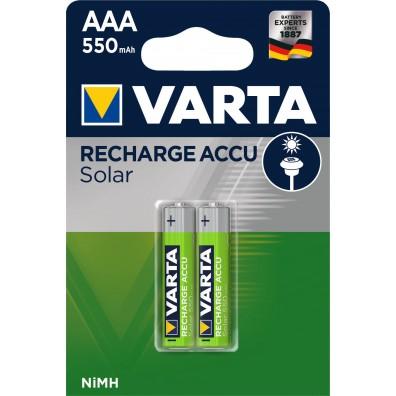 Varta – Solar Accu 56733 AAA HR03 550mAh 1,2V NiMH Akku – 2er Blister