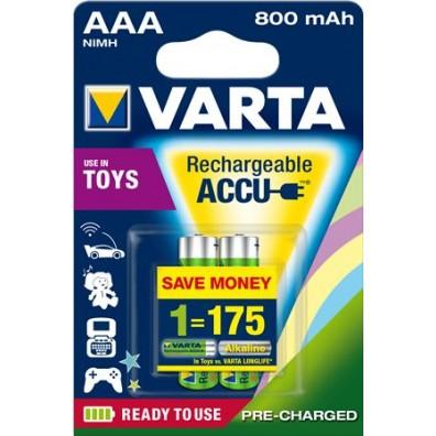 Varta – Toys Accu 56783 AAA 800mAh 1,2V NiMH Akku – 2er Blister