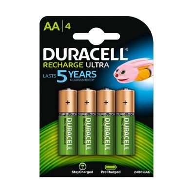 Duracell – Ultra AA HR6 2500mAh 1,2V NiMH Akku – 4er Blister