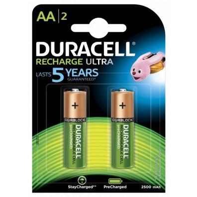 Duracell – Ultra AA HR6 2500mAh 1,2V NiMH Akku – 2er Blister