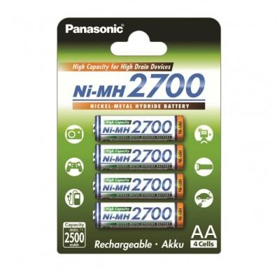 Panasonic – 3HGAE AA HR6 2500mAh 1,2V NiMH Akku – 4er Blister