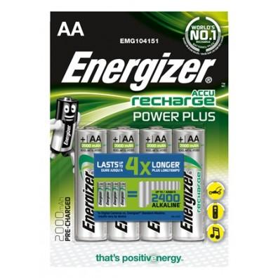 Energizer – Power Plus AA HR6 2000mAh 1,2V NiMH Akku – 4er Blister