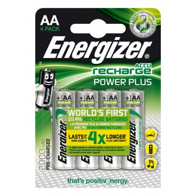 Energizer – Power Plus AA HR6 2000mAh 1,2V NiMH Akku – 4er Blister