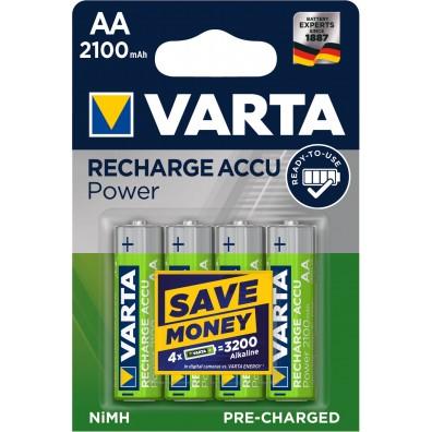 Varta – Recharge Accu 56706 AA HR6 2100mAh 1,2V NiMH Akku – 4er Blister