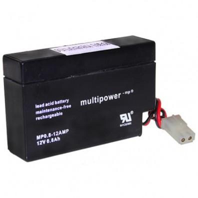 Multipower - MP0,8-12 Bleiakku 12V 0,8Ah mit AMP-Stecker