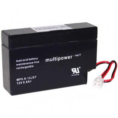 Multipower - MP0,8-12S Bleiakku 12V 0,8Ah mit JST-Stecker