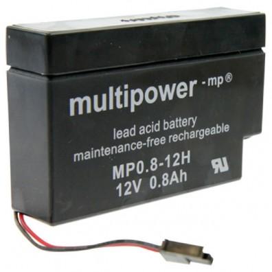 Multipower - MP0,8-12H Heim und Haus  Bleiakku 12V 0,8Ah