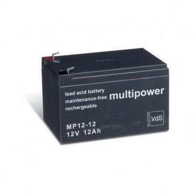 Multipower MP12-12 Bleiakku  12V 12Ah 4,8 mm Faston