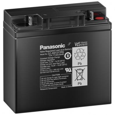 Panasonic-  LC-XD1217PG 12V 17Ah Blei-Vlies Akku AGM -  VdS Zulassung