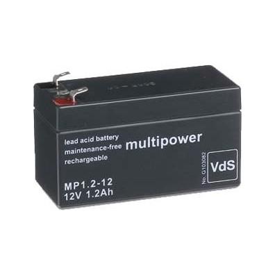 Multipower -  MP1,2-12 Bleiakku 12V 1,2Ah 4,8mm Faston - VdS Zulassung