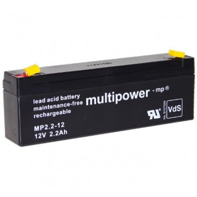 Multipower MP2,2-12 Bleiakku 12V 2,2Ah m. 4,8mm Faston - VdS Zulassung