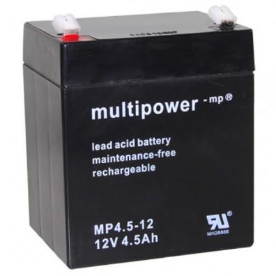 Multipower - MP4,5-12 Bleiakku 12V 4,5Ah mit 4,8mm Faston