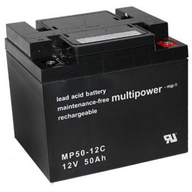 Multipower -  MP50-12C Bleiakku 12V 50Ah mit M6-Terminals