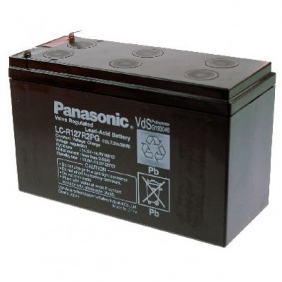 Panasonic - Bleiakku 12V 7,2Ah LC-R127R2PG  m. 4,8mm Faston