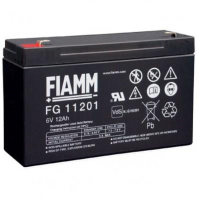 Fiamm - Bleiakku 6V 12Ah FG11201 4,8mm Faston - VdS Zulassung