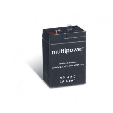 Multipower - MP4,5-6 Bleiakku 6V 4,5Ah mit 4,8mm Faston