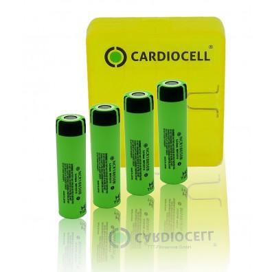 4x Panasonic NCR18650B Li-Ionen Akku 3,7V 3400mAh inkl. Cardiocell 4er Akkubox