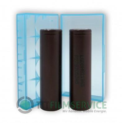 2x LG ICR 18650HG2 Li-Ion 3000mAh 20A LGDBHG21865 mit Akkubox