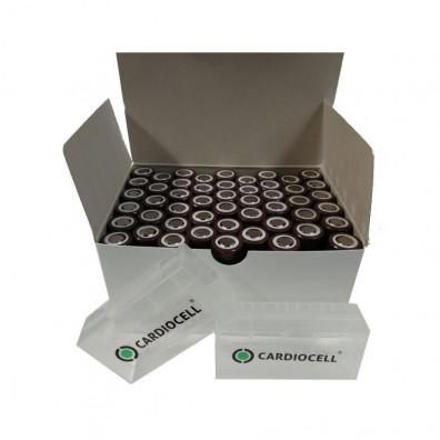 50x LG ICR 18650HG2 Li-Ion 3000mAh 20A LGDBHG21865 inkl. 5x 2er Cardiocell Akkuboxen