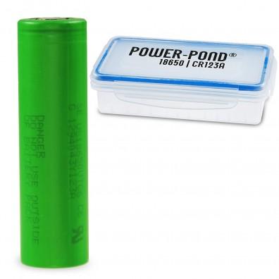 """Sony / Murata – Konion US 18650 VTC6 3120mAh 3,6V-3,7V 30A Li-Ionen Akku – 1 Stück inkl. Akkubox """"POWER-POND"""""""