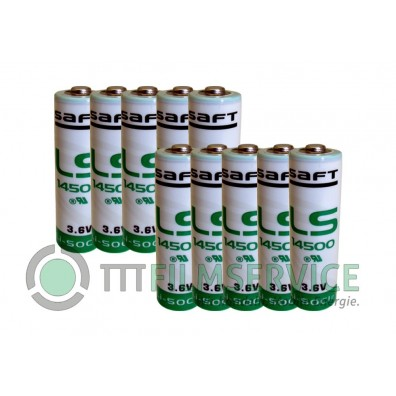 Saft – LS14500 AA 3,6V Lithium Batterie ohne Ableiter – 10 Stück