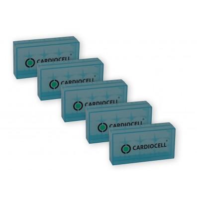 5x Cardiocelll Akkubox für je 2  Li-Ionen Akkus 18650