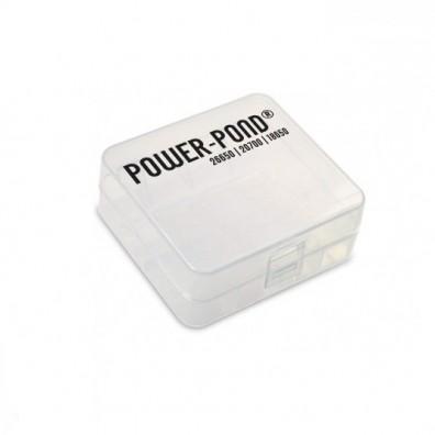 """Aufbewahrungsbox für 2x 26650 21700 20700 18650 Li-Ion Akkus """"Power-Pond"""""""