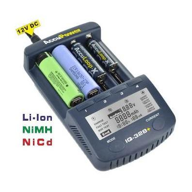 Accu Power - IQ328+ Universal Schnellladegerät für Li-Ion/NiCd/NiMH-Akkus