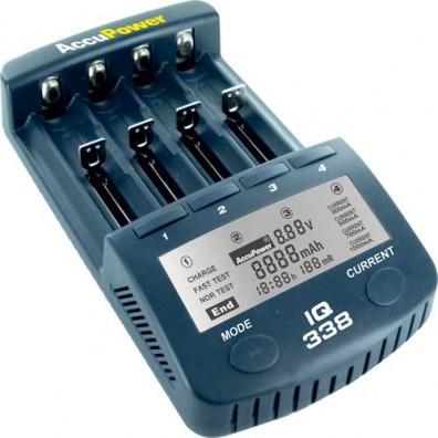 Accu Power - IQ338 Intelligentes Ladegerät und Akku Analyzer für Li-Ion/NiCd/NiMH