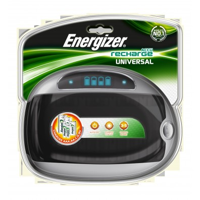 Energizer -Universal Charger mit LCD-Ladestatus-Anzeige