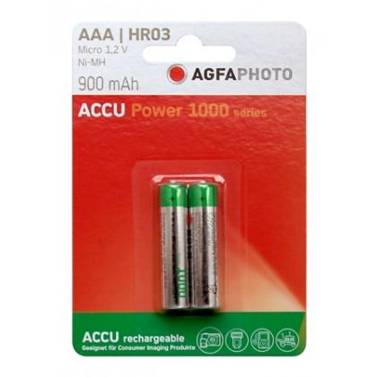 AgFA Photo – Power AAA HR03 900mAh 1,2V NiMH Akku – 2er Blister