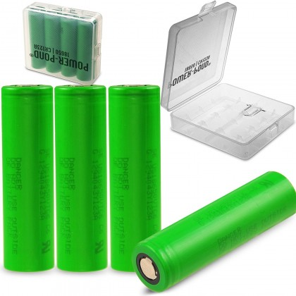 "4x Murrata Konion VTC6 18650 US18650VTC6 3120 mAh 30A inkl. Akkubox ""POWER-POND"""
